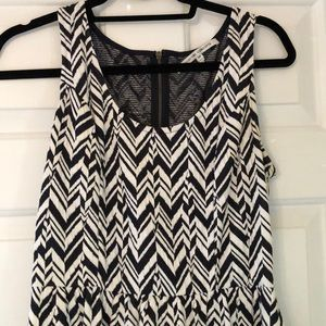Navy and white collective concepts dress